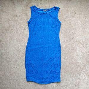 Mlle Gabriele blue mini dress size S